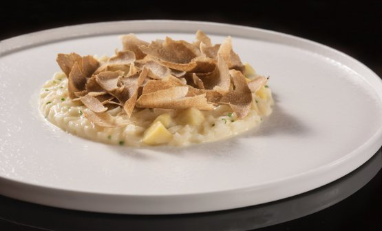 Risotto with chestnuts and white truffle from Alba