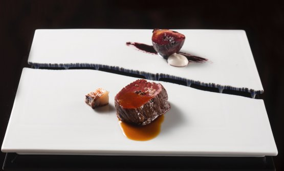Venison with fig