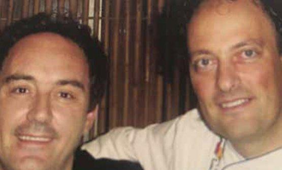 Cedroni con Ferran Adrià in una foto d'archivio
