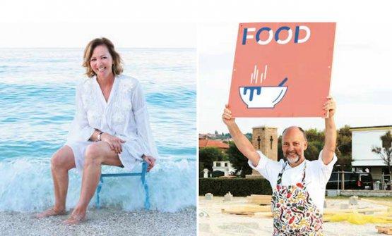 Cinzia Benzi e Moreno Cedroni, che firmano il libro