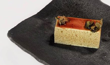 Last dish: Tecnica, animal cake, that is to say sponge cake of cow's tendons (photo Per-Anders Jörgensen)