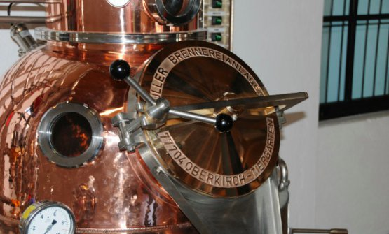 Dettagli della distilleria di Meda