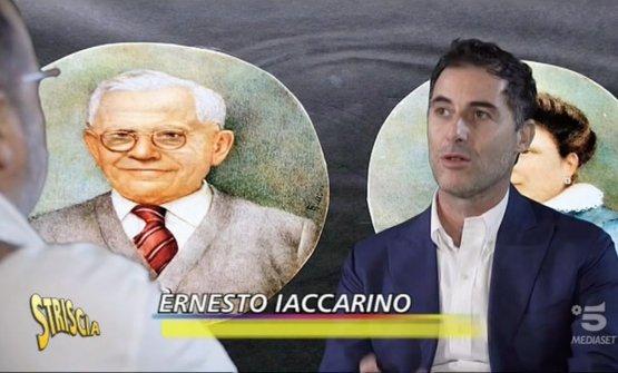 Ernesto Iaccarino con Paolo Marchi sugli schermi di Striscia la notizia. Le registrazioni sono avvenute a Identità Golose Milano, primo hub internazionale della gastronomia