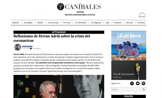 L'articolo di7canibales.com