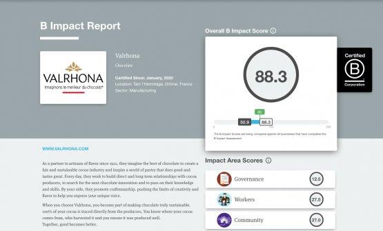 La certificazione B Corp® di Valrhona