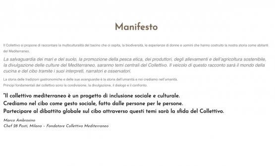 Il Manifesto di Collettivo Mediterraneo