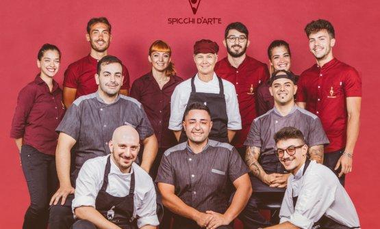 Il team diSpicchi d'arte, pizzeria a Tricase (