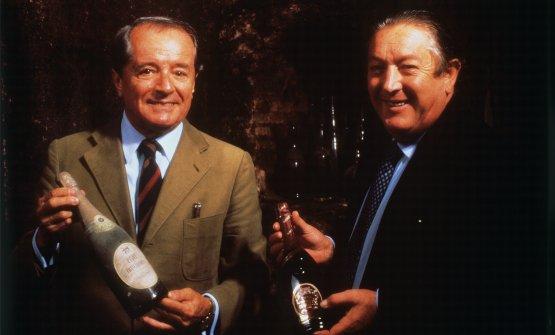 Guido Berlucchi e Franco Ziliani, in una foto di r