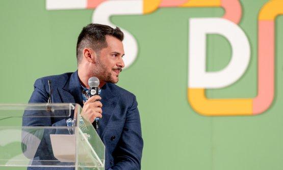 Pier Daniele Seu sul palco dell'edizione 2019 delle Strade del Mediterraneo, martedì 1 ottobre a Paestum