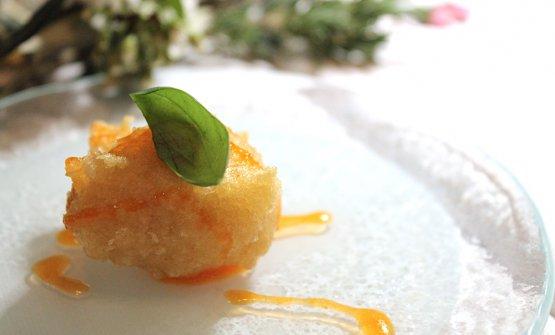Sfincia di baccalà con caramello di pomodoro (Ravanà)