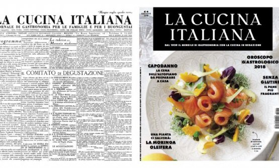 Il primo e l'ultimo numero de La Cucina Italiana, lo storico mensile che da settembre è diretto da Maddalena Fossati