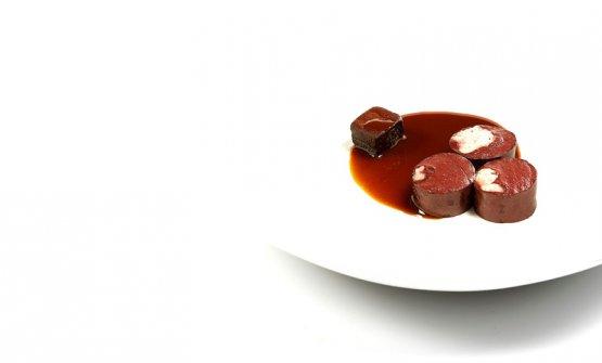 Blood sausage, rancid chocolate