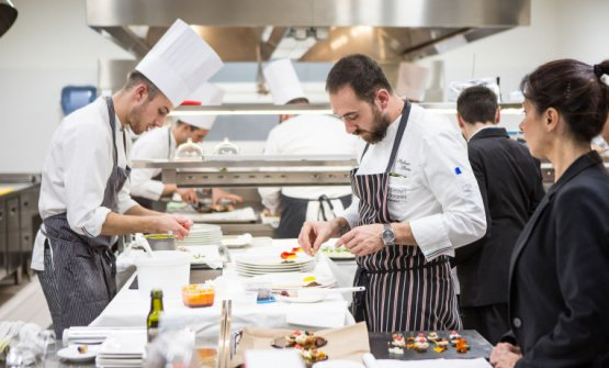 Stefano Sforza, chef del ristoranteLes Petites M
