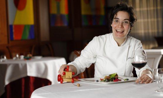 La chef del ristorante, Silvia Moro