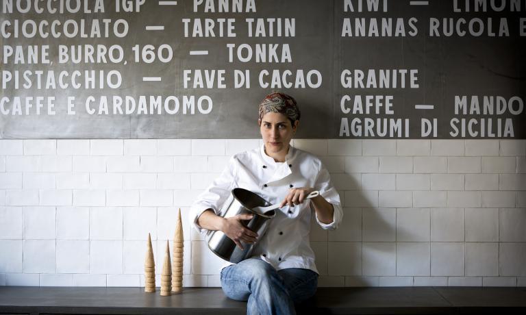 Simona Carmagnola, responsabile della nuova gelateria