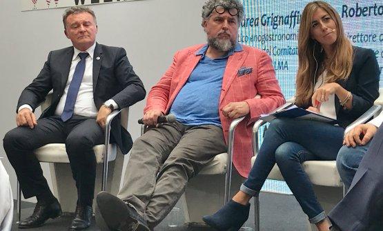 Da sinistra, Roberto Gardini, Andrea Grignaffini, Chiara Marando