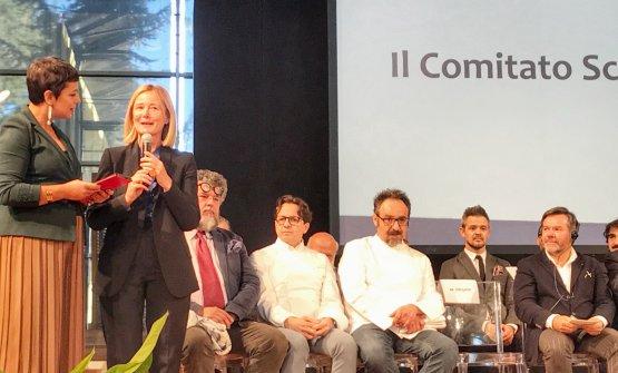 In rappresentanza del Comitato Scientifico, l'intervento di Mariella Organi, introdotto dalla presentatrice della giornata Francesca Romana Barberini