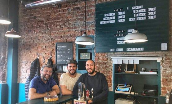 Da sinistra: Vincenzo Critelli, Sebastiano Corno e