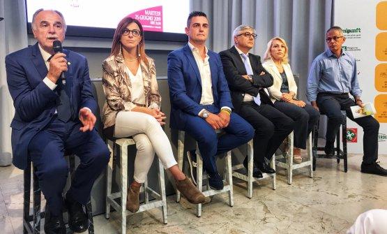 I relatori dell'incontro. Da sinistra:Mario