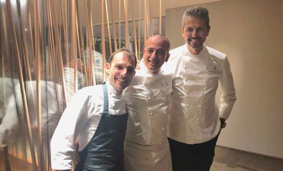 I tre chef protagonisti: Raffaele Lenzi, Pino Cuttaia, Andrea Berton