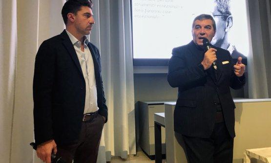Ambeskovic con Claudio Ceroni di Magenta Bureau