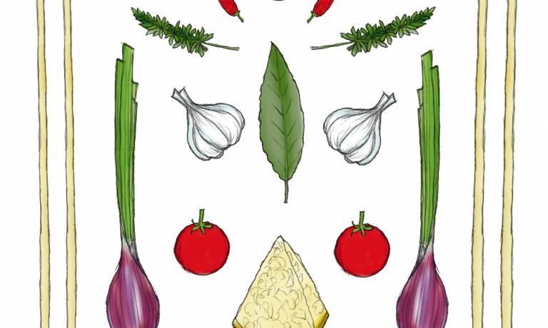 La ricetta di Aimo e Nadia Moroni � qui illustrata da Gianluca Biscalchin
