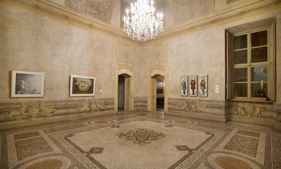 Una sala diPalazzo Saluzzo Paesana