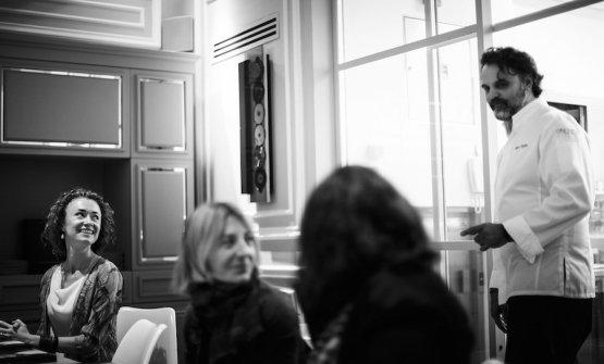 Liudmila Musatova sorride a Marco Stabile, suo compagno nella vita e sul lavoro