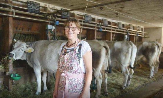Una delle allevatrici che aderiscono a Mila