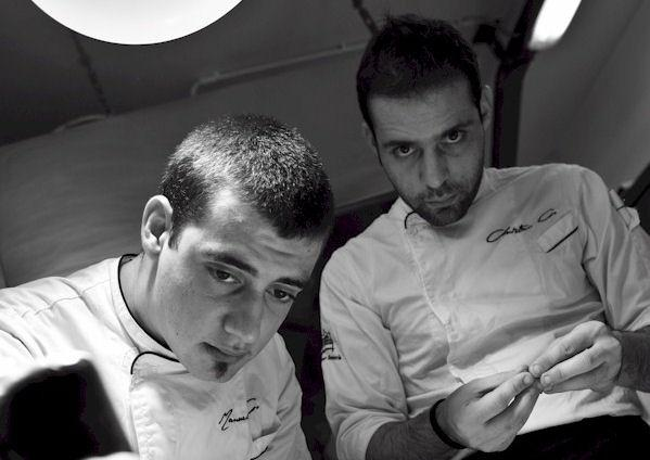 The chefs, Manuel and Christian Costardi