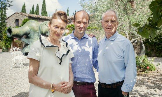 La famiglia Femfert: mamma Stefania, Léon e papà Peter