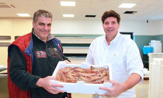 Stefano Chinappi, sulla destra, conGianni Purifi