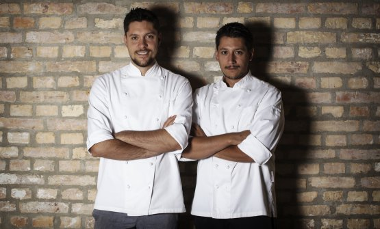 Stefano e Mattia Manias, chef del ristorante di famiglia Al Cjasal