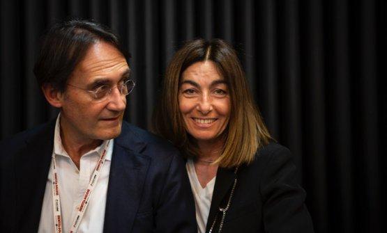 Piero Gabrieli, qui con Chiara Quagliaa Identit�