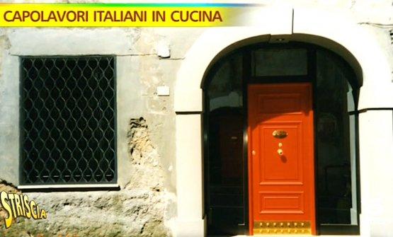 La famosa porta rossa di Antonello Colonna ai tempi del ristorante a Labico