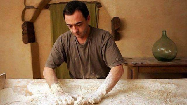Nicolas Supiot, ancient wheat guru, working on his dough