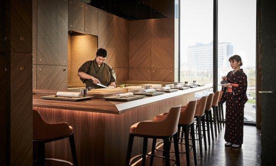 Il banco sushi di Iyo Aalto