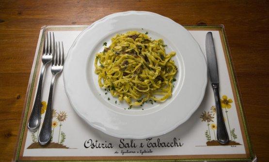 Tra i piatti forti dell'Osteria: Tagliolini ai missoltini