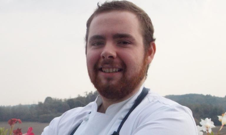 Simone Tanzi, chef de partie del ristoranteMater