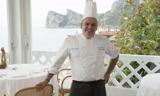Lo chef in terrazza...