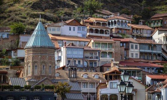 Uno scorcio di Tbilisi, capitale della Georgia