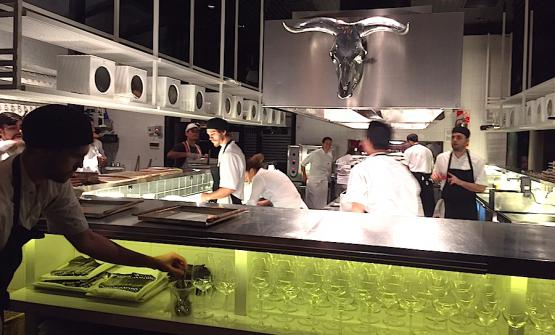 The open view kitchen at Tegui in Buenos Aires