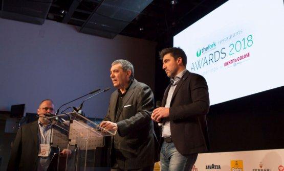 Paolo Marchi, Claudio CeronieAlmir Ambeskovical momento dell'annuncio della nuova iniziativa, nel marzo scorso durante Identità Milano 2018