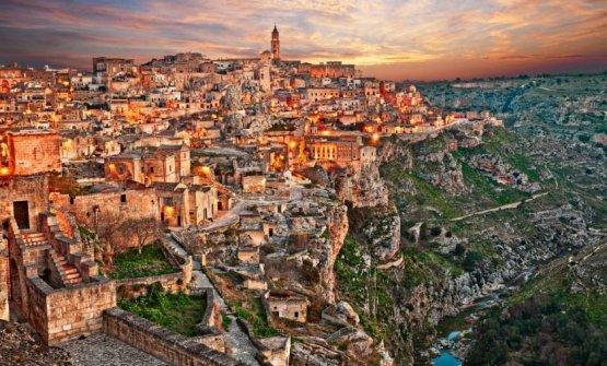Una vista scenografica su Matera, Capitale Europea