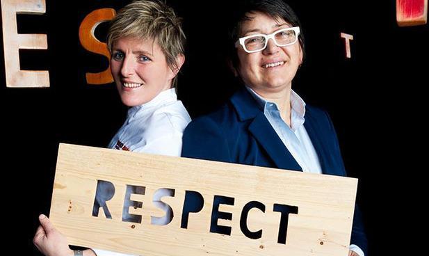 LA CHEF E LA BOSS. Viviana Varese e Sandra Ciciriello (foto Brambilla/Serrani)