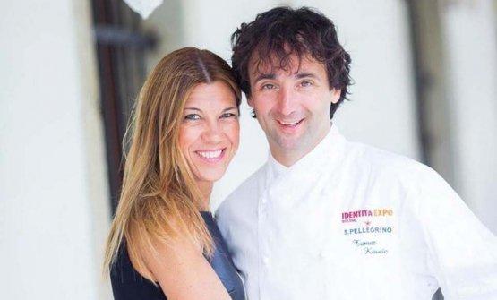 Tomaž Kavčič con la moglie Flavia Furios ai tempi di Identità Expo