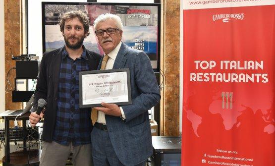 Lorenzo Ruggeri con Alfonso Iaccarino