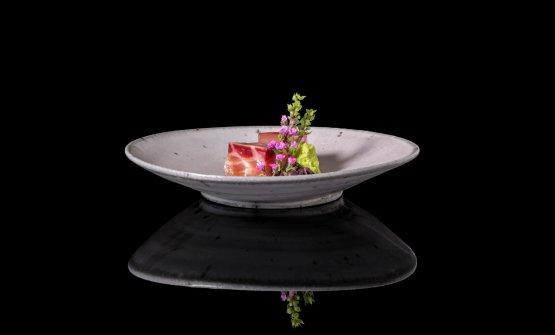 Qui e di seguito, alcuni magnifici piatti del Den