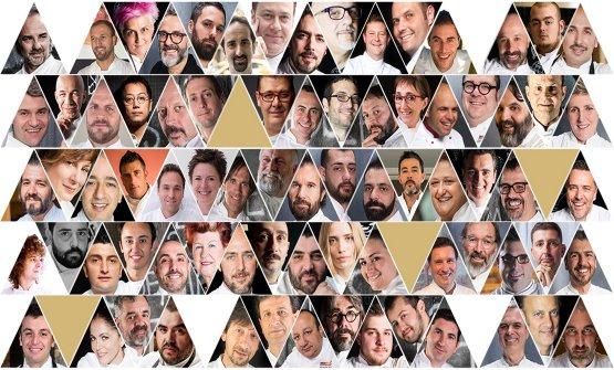 Li riconoscete tutti e 71? Sono i Top Chef coinvol