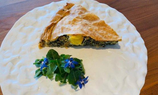 Ecco come lo chef Marco Visciola presenta una porzione della sua Torta Pasqualina